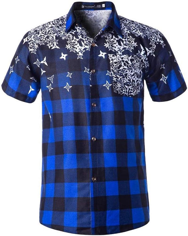 Hawaiian Shirts for Men Casual Vintage Classic Print Daily Vacation Shirt