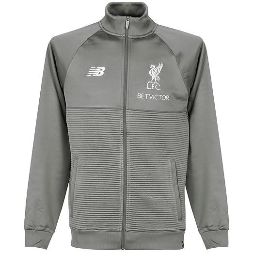 674186f198a7 Amazon.com  Liverpool FC Grey Mens Soccer Training Walk Out Jacket ...
