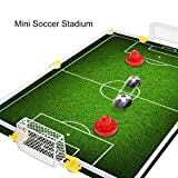 Table Air Power Hockey Soccer Set with 2 Gates Disk Hover Football Game With Foam Bumpers for Boys Girls Toys Gifts