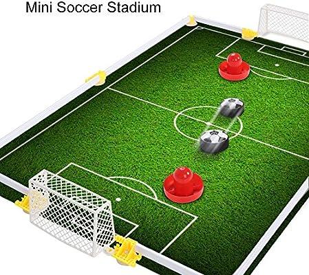 Alomejor Mesa Air Power Soccer Toy Air Power Soccer Disk Hover Ball Air Hockey Hover Soccer Campo de f¨²tbol Juego de Juego: Amazon.es: Deportes y aire libre