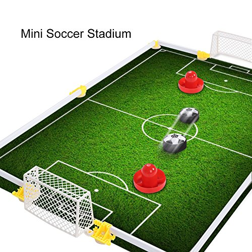 Foot Hockey Table - Table Air Power Hockey Soccer Set with 2 Gates Disk Hover Football Game With Foam Bumpers for Boys Girls Toys Gifts