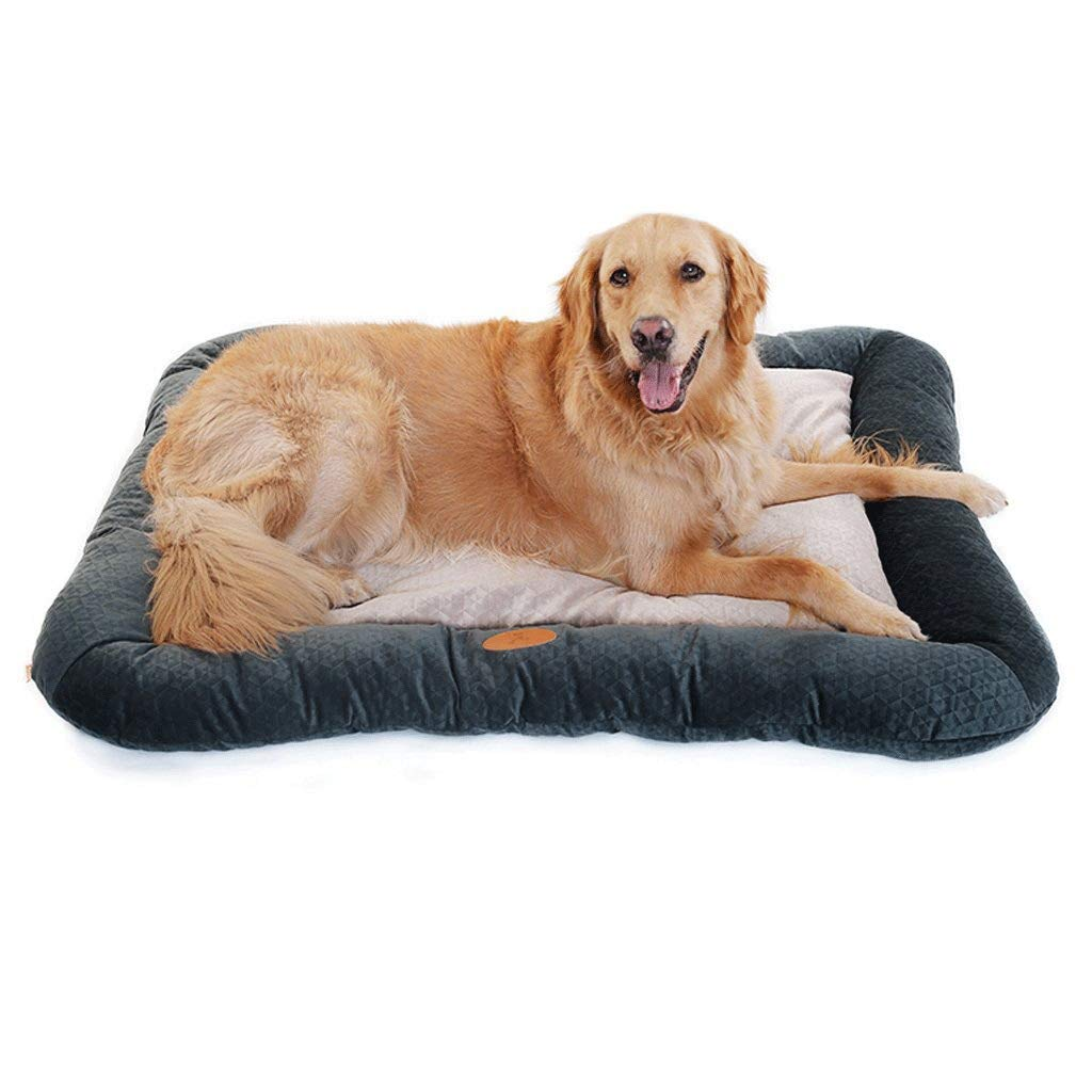 XAJGW Pet Deluxe Orthopedic Dog Bed Padded Rim Cushion Nonslip Bottom, Grooved Orthopedic Foam Pet Bed Extra Comfy Cotton