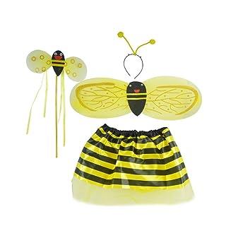 Ali dello Scarafaggio a Quattro Pezzi Oggetti di Scena di Danza Abbigliamento per Bambini di Modellazione Animale (giallo)