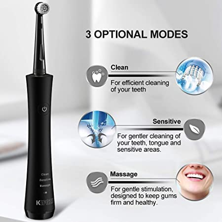 Amazon.com: KIPOZI Rotary Electric Toothbrush for Adults,Rechargeable USB toothbrush Built-in 2 Minutes Smart Timer,Portable Spin Toothbrush with 2 Round ...