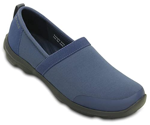 964bf97de5a536 crocs Women s Duet Busy Day 2.0 Satya A-Line Bijou Blue Graphite Boat Shoes  - W4(201884-43R)  Buy Online at Low Prices in India - Amazon.in