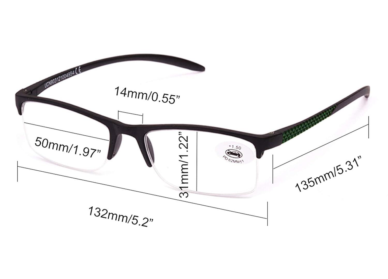 Pack de 5 lunettes de Lecture Vista fatiguée presbytes, lunettes de Homme  et Femme Unisexe avec monture de Pâte, charnières Standard, pour lire, ... d865f4b6678a