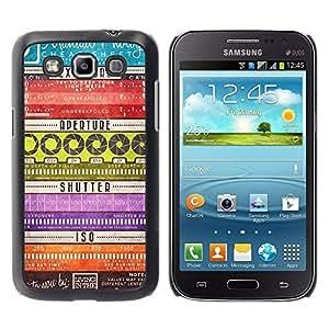 Be Good Phone Accessory // Dura Cáscara cubierta Protectora Caso Carcasa Funda de Protección para Samsung Galaxy Win I8550 I8552 Grand Quattro // Lens Camera Shutter Pattern
