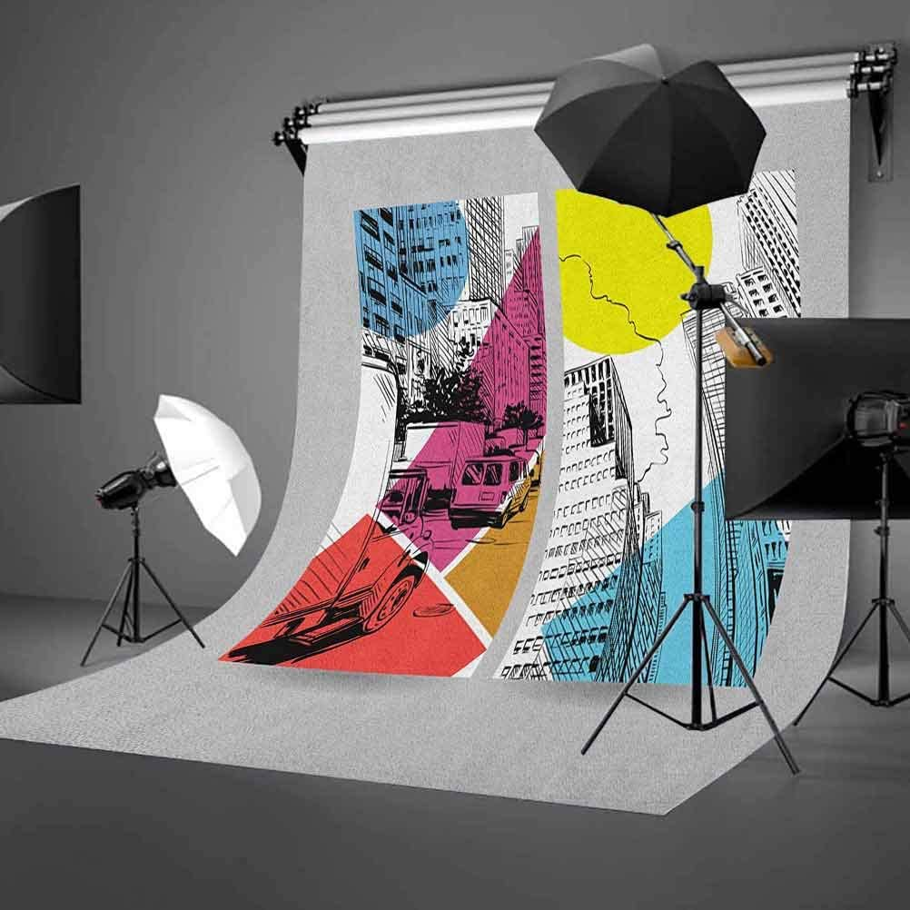 7x10 FT Vinyl Photography Backdrop,Flamingos and Sleeping Plants in Pots Cute Children Cartoon Pattern Tropical Bird Background for Graduation Prom Dance Decor Photo Booth Studio Prop Banner