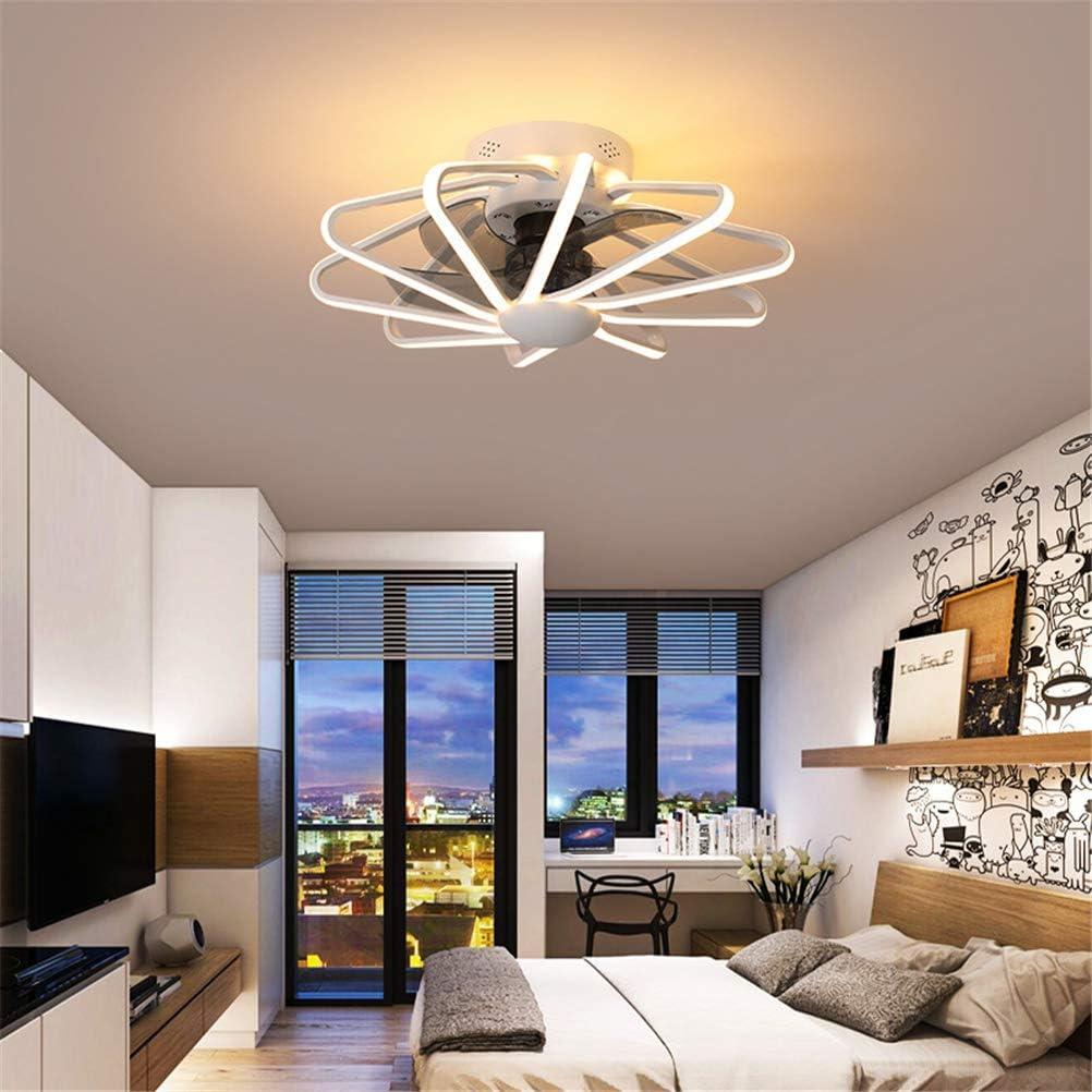112W LED Esszimmer Deckenlampe mit Ventilator 3-Gang Einstellbare Ventilator mit Lampe,Schwarz GUSICA Deckenventilator mit LED Beleuchtung und Fernbedienung Leise Dreifarbtemperatur