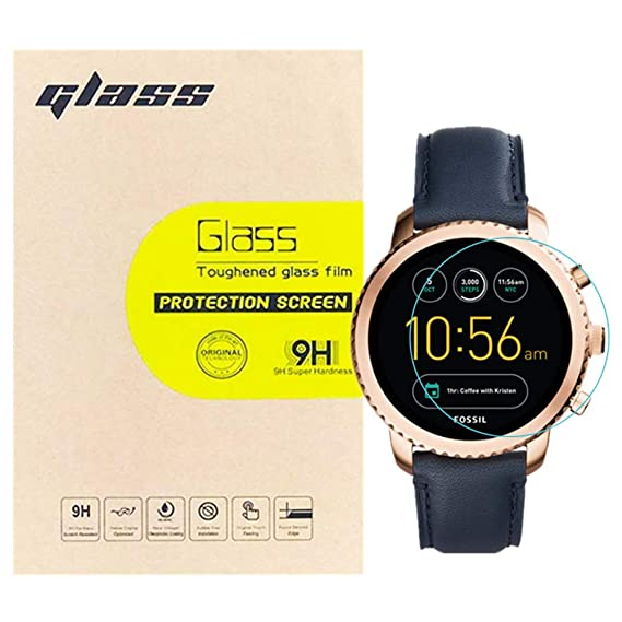 (3-Pack) LUPAPA for Fossil Q Explorist Gen 3 Smartwatch Tempered Glass Screen Protector, 9H Hardness 99.9% High Definition Premium Protective Film ...