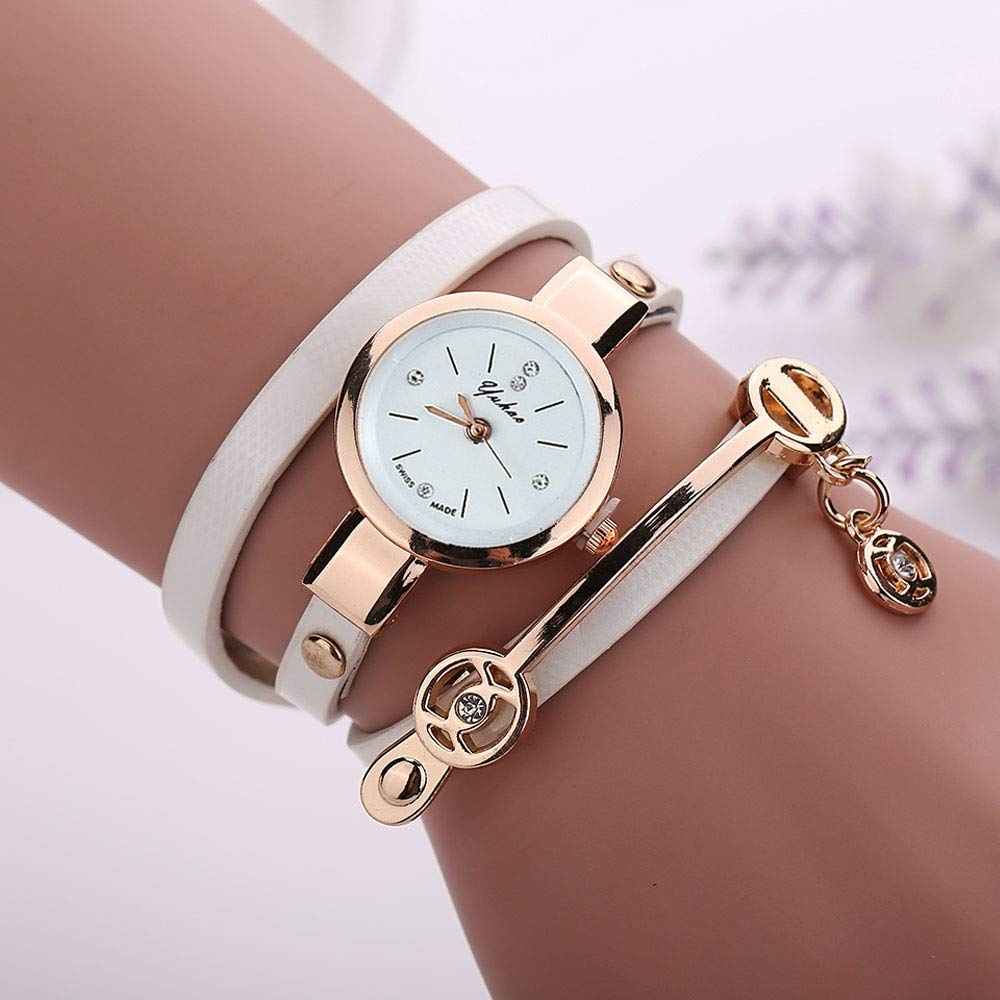 Amazon.com : Embiofuels - Relojes Mujer Women Metal Strap Wristwatch Bracelet Quartz Watch Woman Ladies Watches Clock Female Fashion Women Watches [White] ...