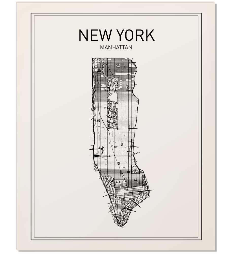 This is a picture of Manhattan Printable Map intended for street