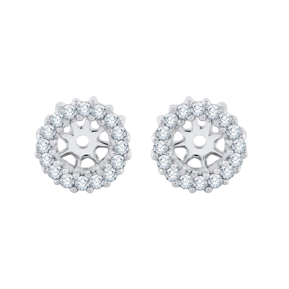 Color JK, Clarity I1-I2 18100724 KATARINA Diamond Earring Jackets in 14K White Gold 1//4 cttw