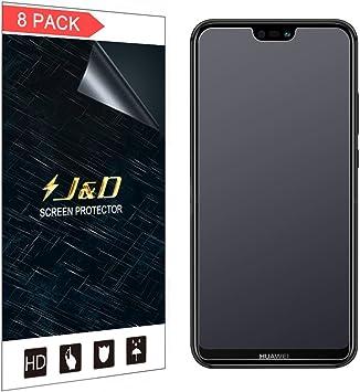 J&D Compatible para 8 Paquetes Protector de Pantalla para Huawei ...