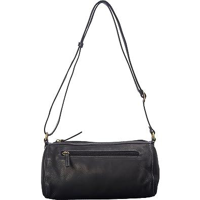 ae35449a005e Derek Alexander EW Cylinder Shoulder Bag (Black): Handbags: Amazon.com