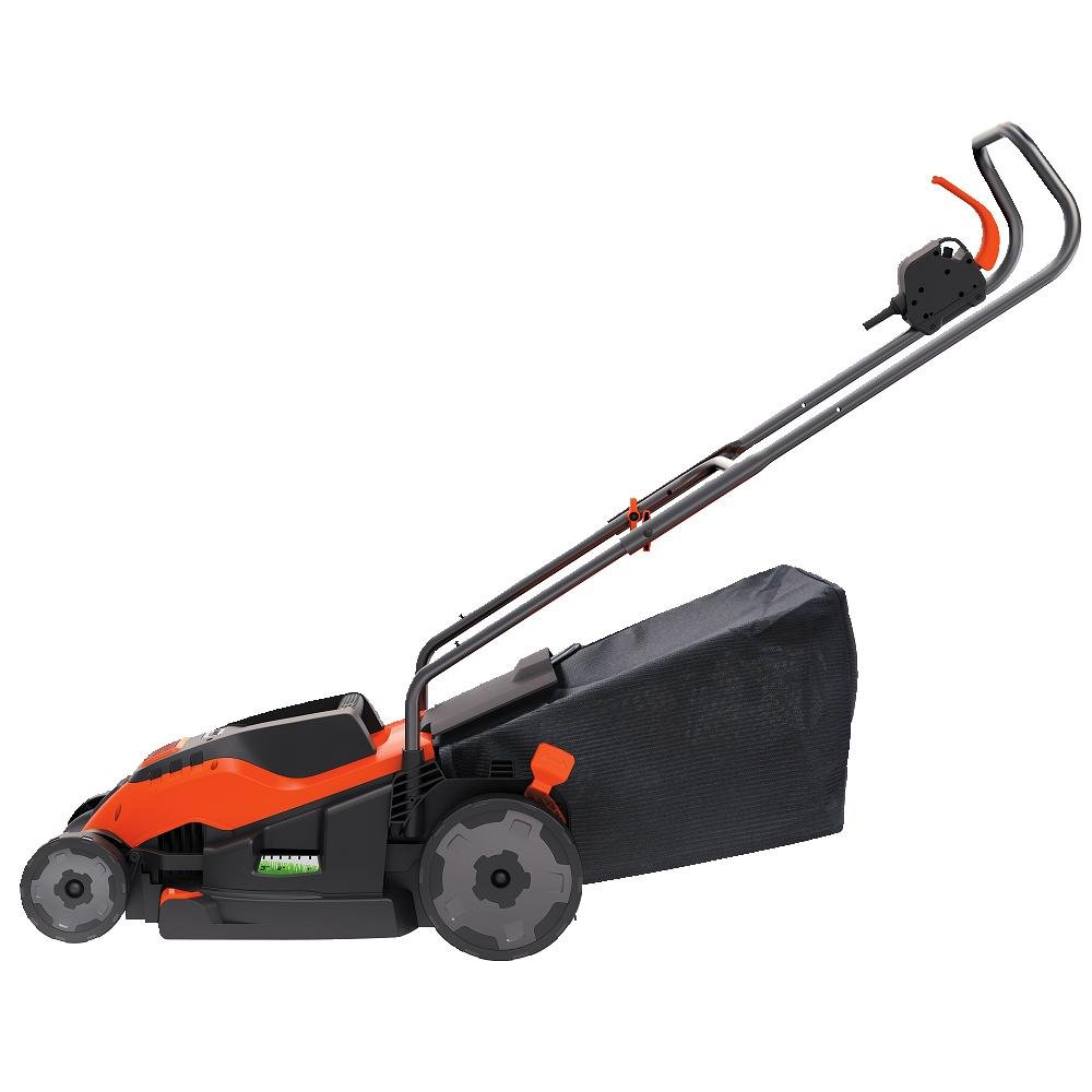 push lawn mower side view. amazon.com : black+decker em1500 15-inch corded mower with edge max, 10-amp garden \u0026 outdoor push lawn side view