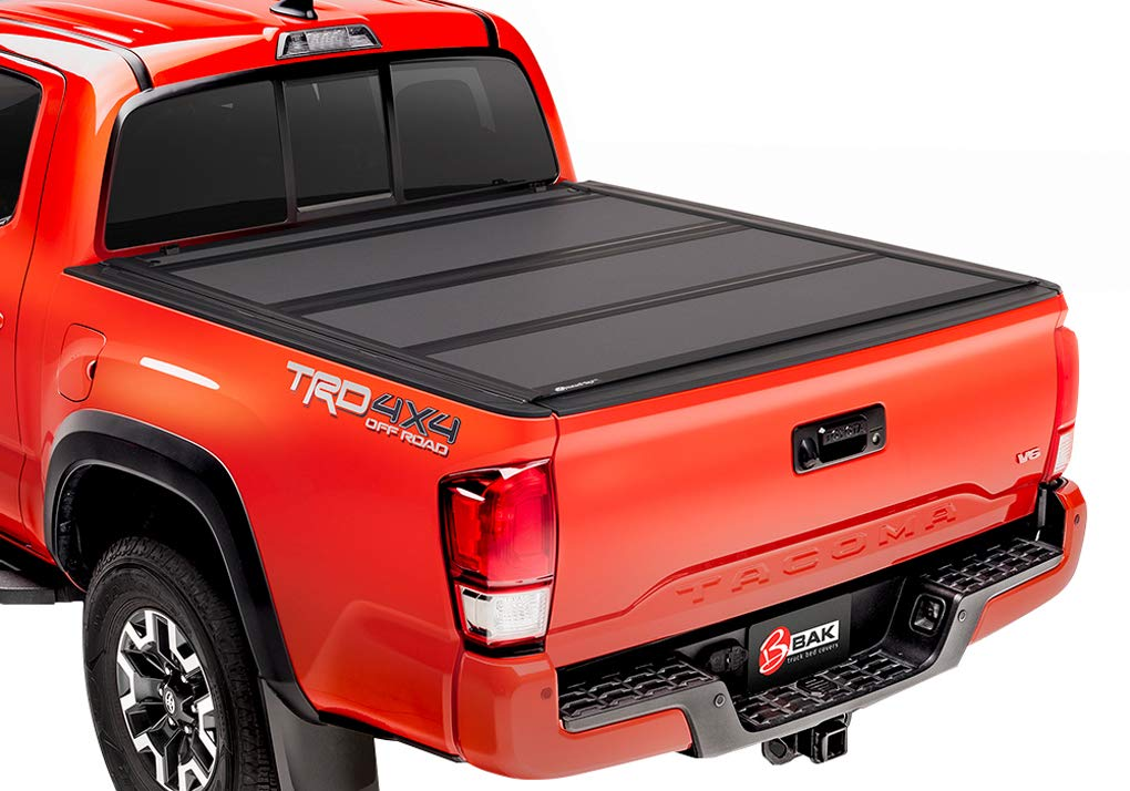 BAK Industries BAKFlip MX4 Hard Folding Truck Bed Cover 448406 2005-15 Toyota Tacoma 5' with Track System