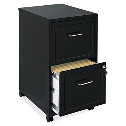 Fine Eb Mobile File Cabinet With Wheels Rolling Storage Home Office Furniture 2 Drawers With Lock And Key Organizer Stainless Steel Black Bundle Includes Home Interior And Landscaping Transignezvosmurscom