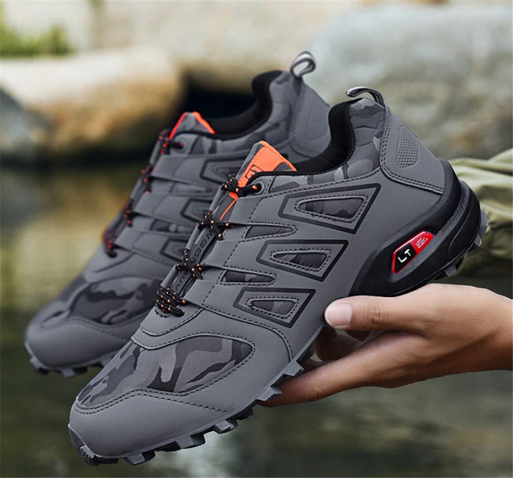 LUCKY-U Männer Wandern Schuhe, Outdoor Low-Top-Oxford wasserdicht Trekking Wanderschuhe Breathable Bequeme Schuhe