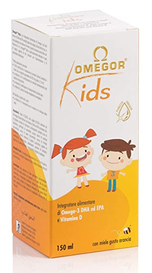 Omegor Kids con omega-3 DHA vegetal y Vitamina D para niños ...