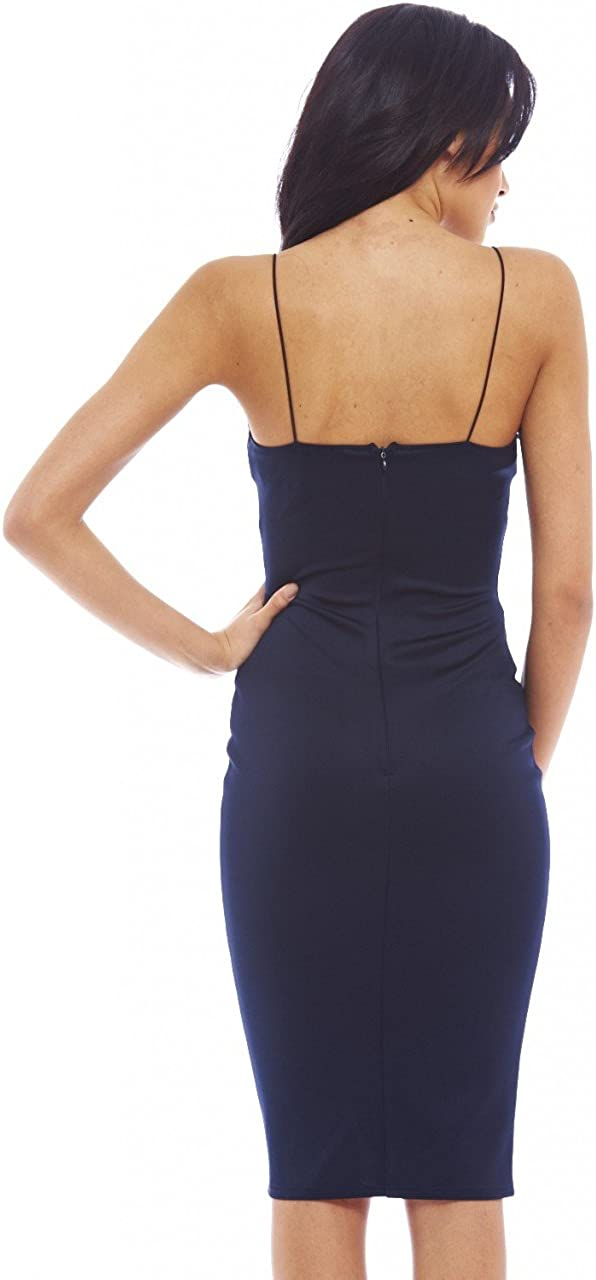 AX Paris Women\'s Pu Panel Midi Dress