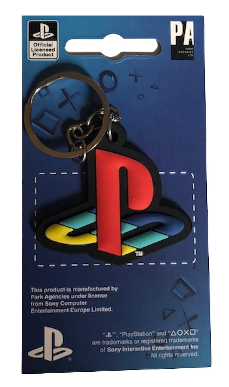 SONY PLAYSTATION - Logo - Oficial Llavero de goma - Negro ...