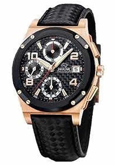 RELOJ JAGUAR CABALLERO ORO AUTOMATICO CORREA REF:J0640/2: Amazon.es: Relojes