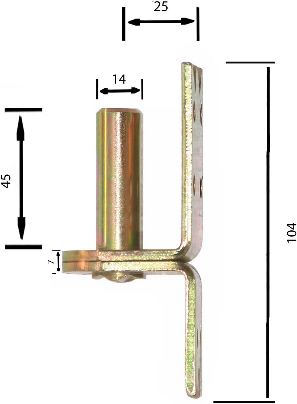 Plattenhaken Kloben Aufschraubkloben 14 mm Türkloben Torkloben Türhaken Verzinkt