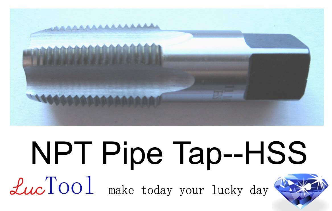 Luctool 3//4-14 NPT Pipe Tap HSS NPT Taper Thread Uncoated Bright Finished Ground Thread Luctool Provides Premium Quality Hand Tools for Metal Threading.