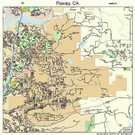 Poway California Map.Amazon Com Large Street Road Map Of Poway California Ca