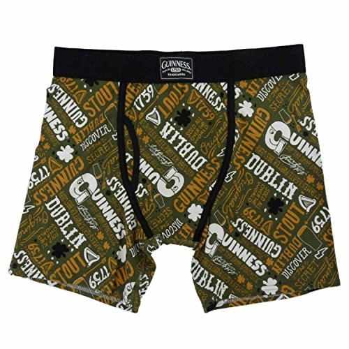 Guinness Mens Green Boxers Stout Beer Boxer Briefs S