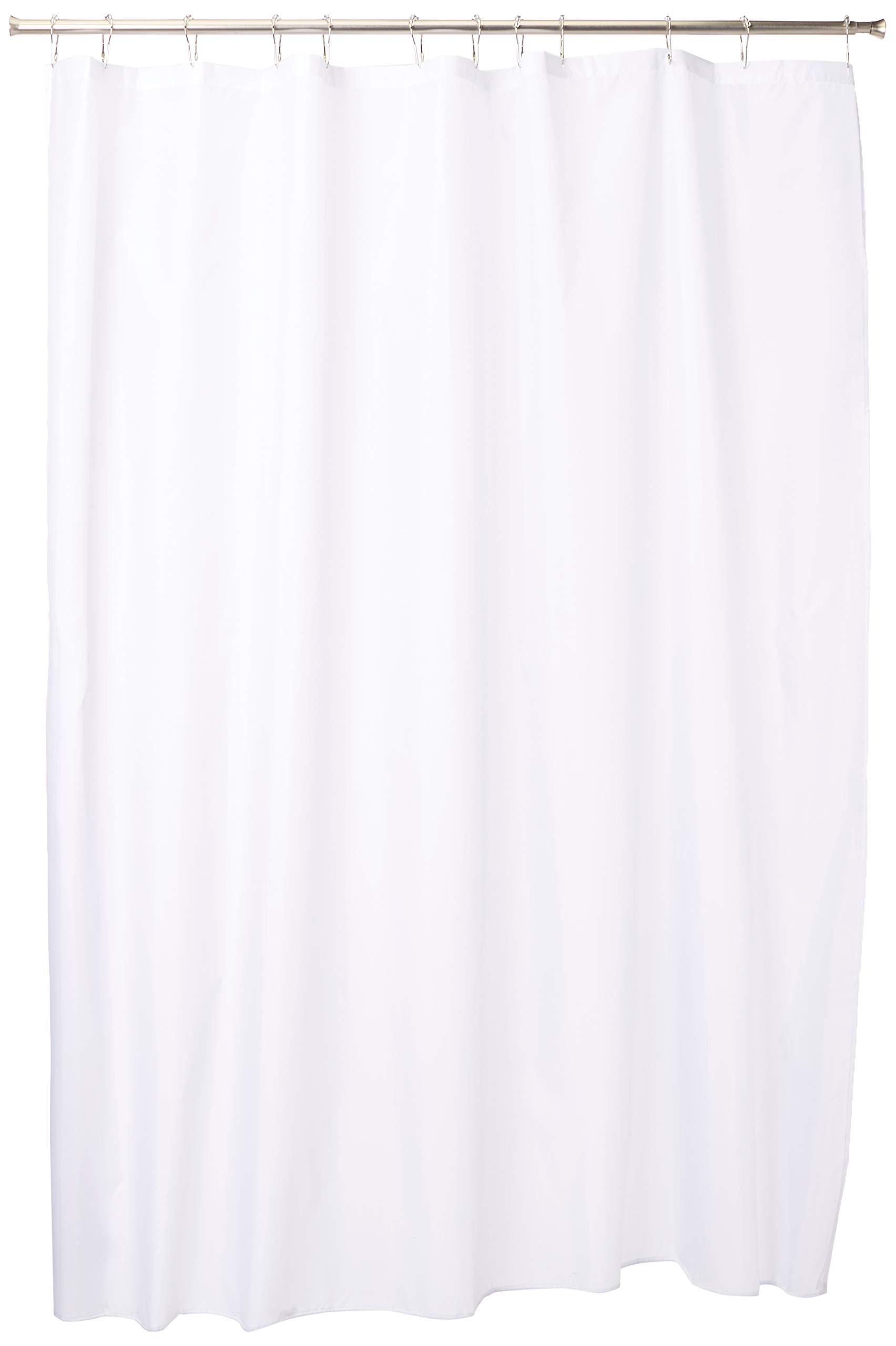 InterDesign 15062 White Extra Long Shower Curtain Liner