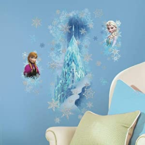RoomMates Disney Frozen Ice Palace With Else And Anna Peel And Stick Giant Wall Decals,Frozen Spring