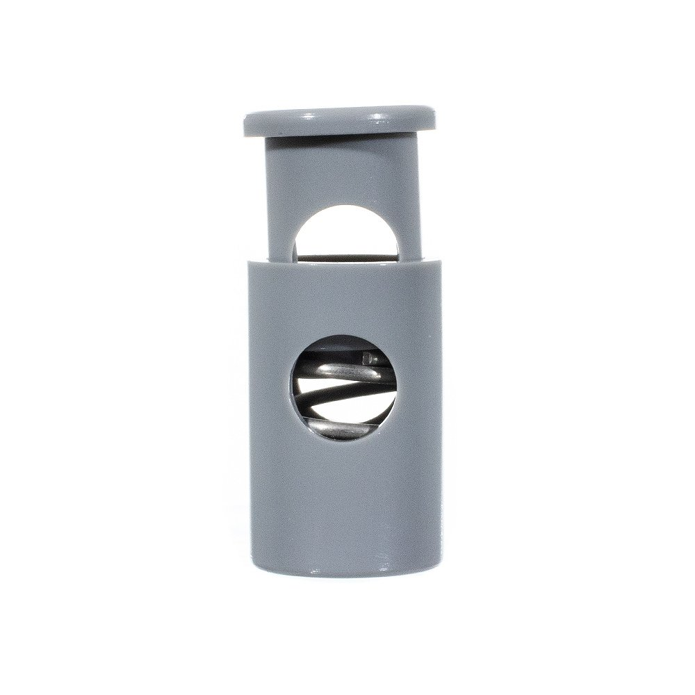 White, 50 Pack USA Made Single Barrel Hole Top Cord Locks