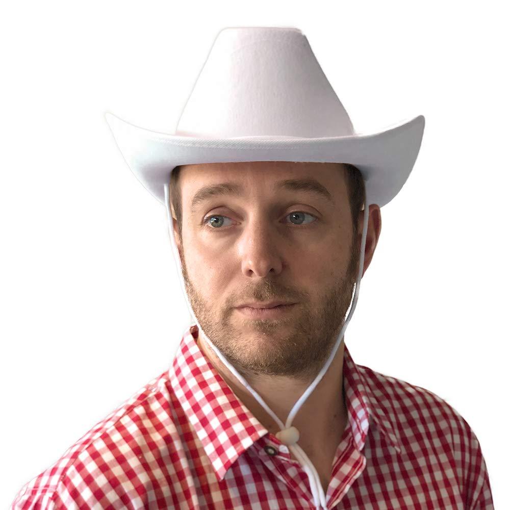PARTY DISCOUNT SPARPACK  Hut Cowboy Classic Filz, weiß 24 STK.