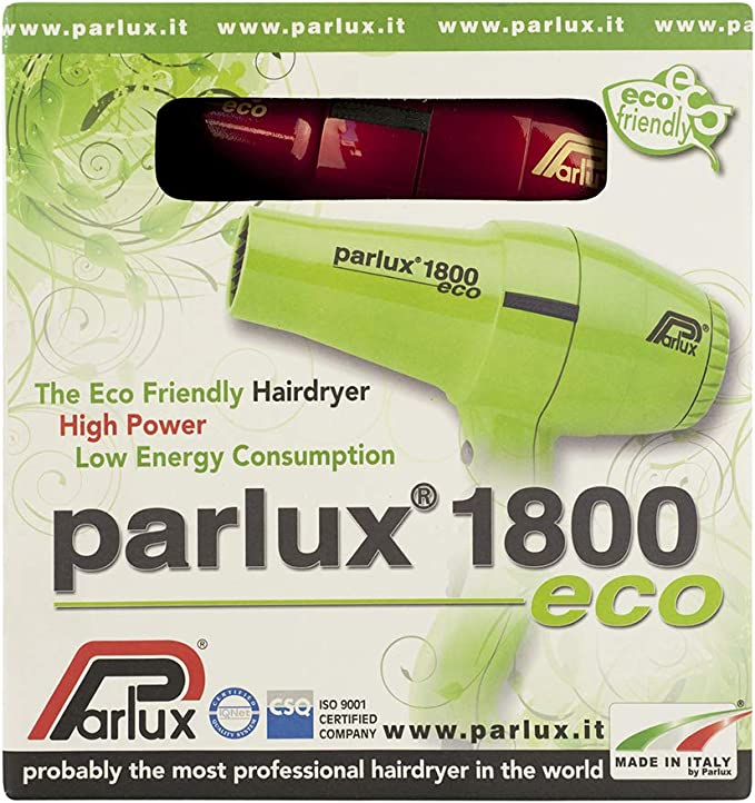 Parlux Asciugacapelli Professionale, Phon 1800 ECO, Rosso 798 ml
