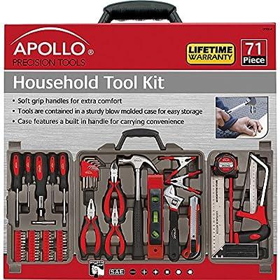 Apollo Tools DT0204 Household Tool Kit, 71-Piece