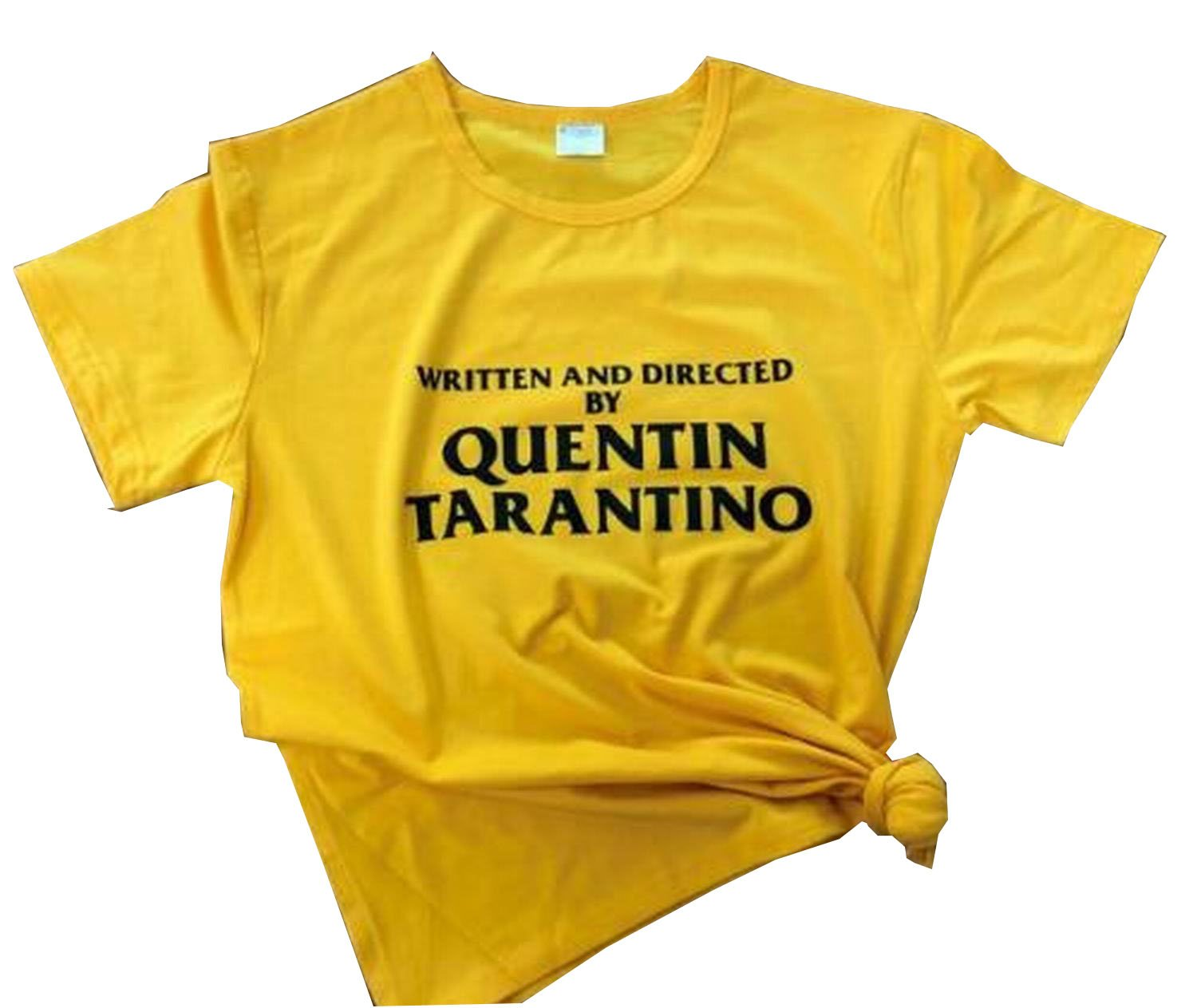 Women's Graphic Tshirts Written and Directed by Quentin Tarantino Printed Tops S Golden