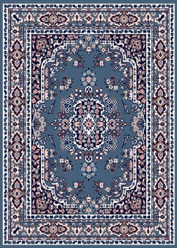 Home Dynamix Premium 7069-310 3-Feet 7-Inch by 5-Feet 2-Inch Area Rug, Country Blue