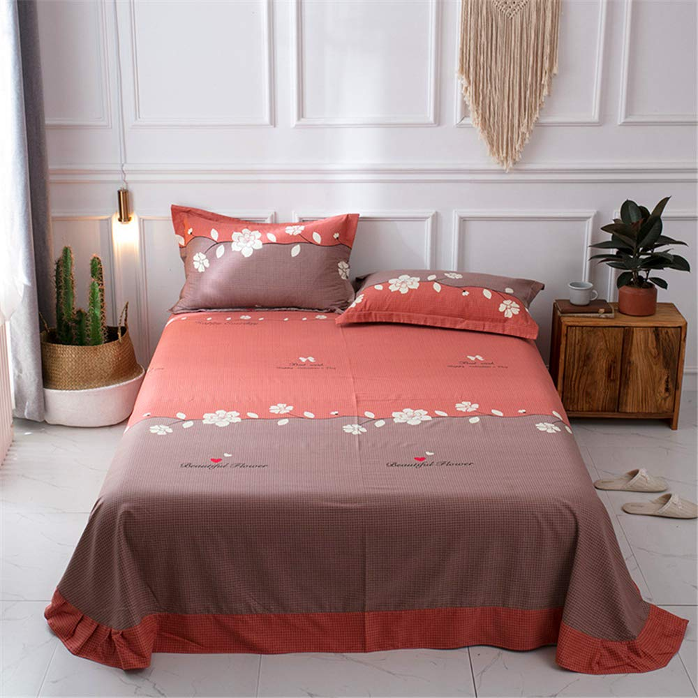 Cotton Sheets Single Piece Bedding Thickening Autumn and Winter Cotton Sanding Single Bed 1.8 / Single Double Increase Sheets a Touch of Fragrance 245250cm by iangbaoyo