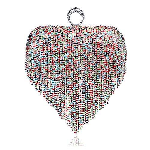 Gift C Bag Bag Tassel Clubs Handbag Clutch For Diamante Women Evening Glitter Ladies Purse Shoulder Prom Bridal Party Wedding CqfUwxTg