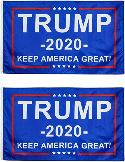 Trump 2020 Flag No More Bull Keep America Great Large Banners Outdoor Yard Sign
