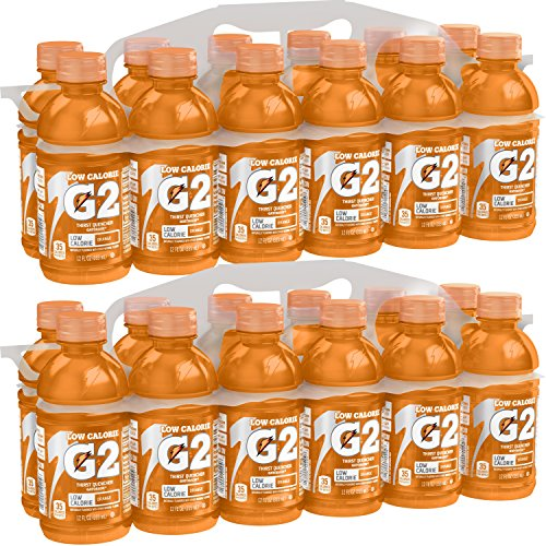 Gatorade G2 Thirst Quencher, Orange, Low Calorie, 12 Ounce Bottles (Pack of 24)