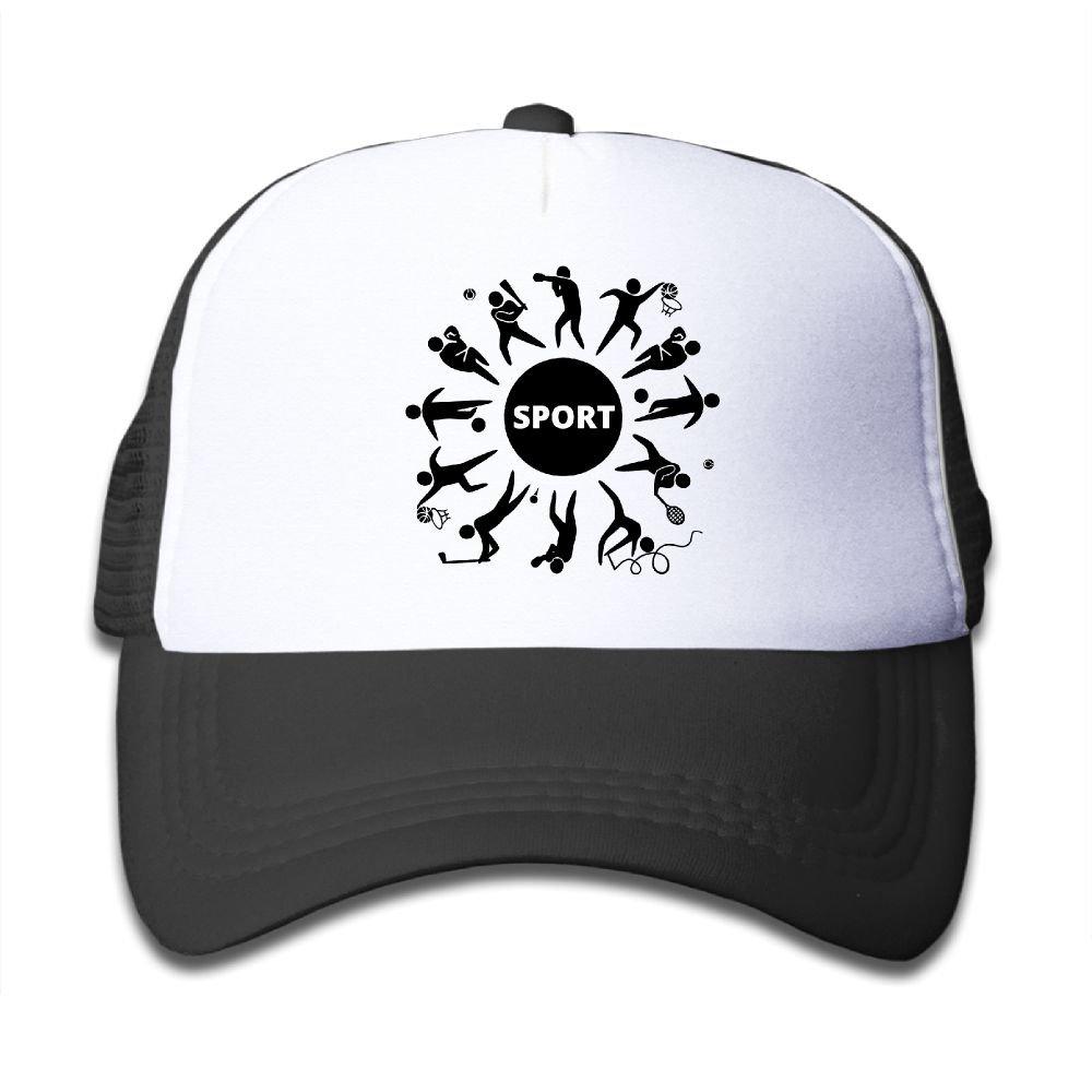 WLF Boys&girls Sports Soccer Tennis Boxing Wrestling Kids Adjustable Mesh Hat Trucker Cap
