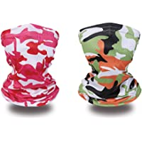 Kids Neck Gaiter Kids Summer Face Covering for Children Bandana Face Scarf Headband