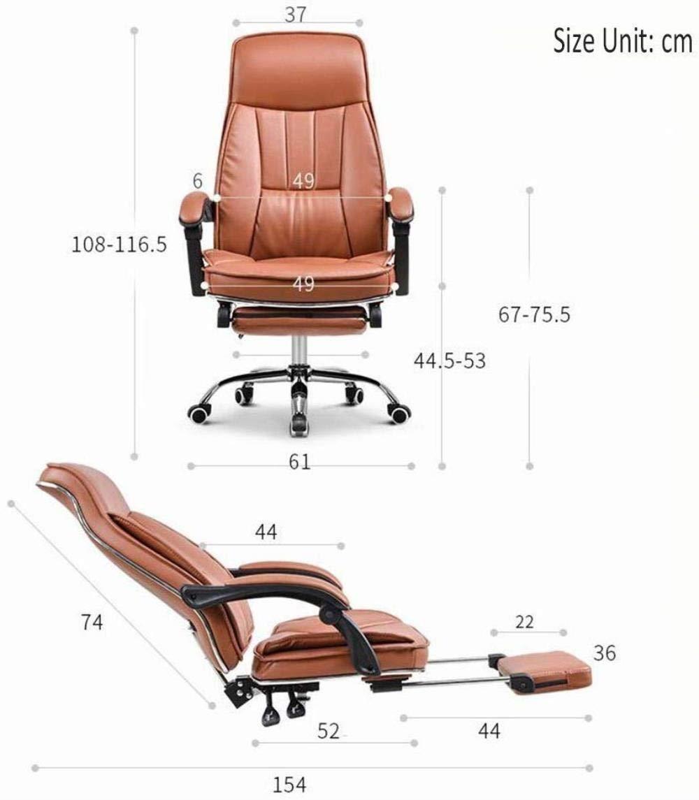 Barstolar THBEIBEI hemmakontor skrivbordsstol vilande kontorsstol spelstol datorstol bekvämt ryggstöd länkat räcke med pedal bärande 250 kg (färg: svart) Svart