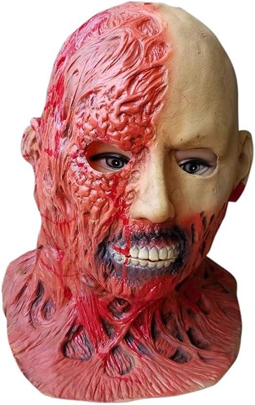 Tefamore Halloween Máscara Sangrienta del Zombi Cara de Fusión ...
