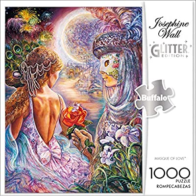 Buffalo Games - Josephine Wall - Masque of Love - Glitter Edition - 1000 Piece Jigsaw Puzzle: Toys & Games
