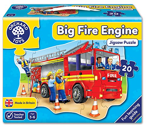 Big Fire Engine Shaped Floor Puzzle