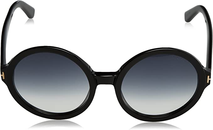 Tom Ford Juliette Round Sunglasses in Shiny Black FT0369 01B 55